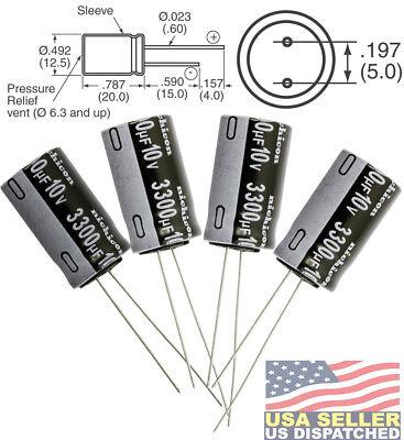Nichicon 3300uf 3300mfd 10v Electrolytic Capacitor 1000hrs 105c