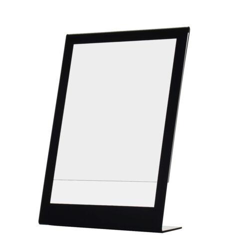 """8.5"""" x 11"""" Sign Holder with Black Border Ad Display Frame Slant Back Qty 12"""