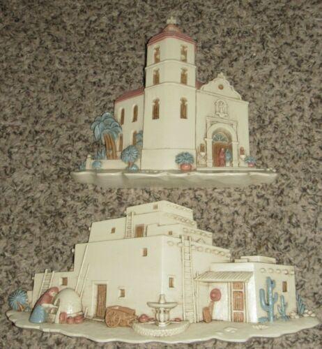 Mission Church & Adobe Hacienda Burwood USA Southwest Wall Decorations