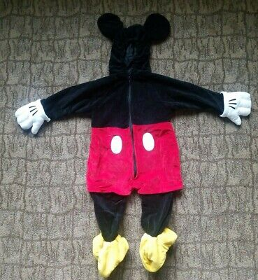 Mickey Mouse Halloween Costume Toddler (MICKEY MOUSE Child Costume Disney Store Halloween Plush 18-24 Infant)