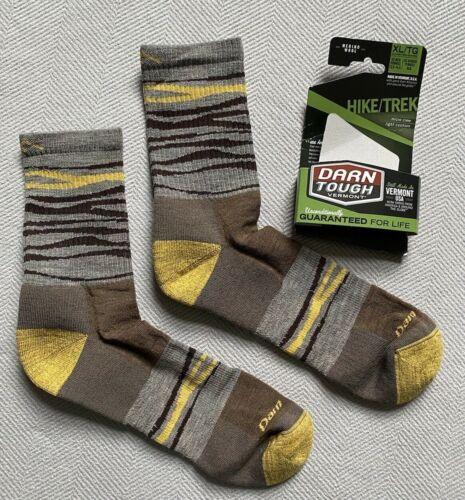 Darn Tough Switchback Micro Crew Light Cushion Socks- Hike/Trek- Brown-Men