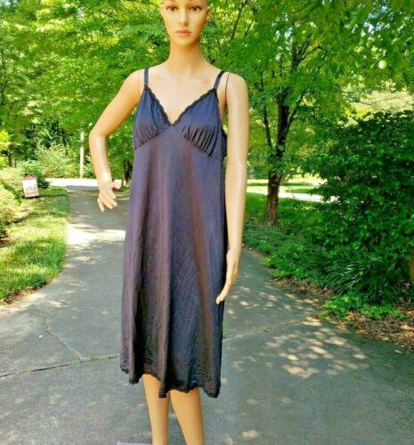vintage Shadowline Full Dress Slip soft Nylon Black size 42 USA