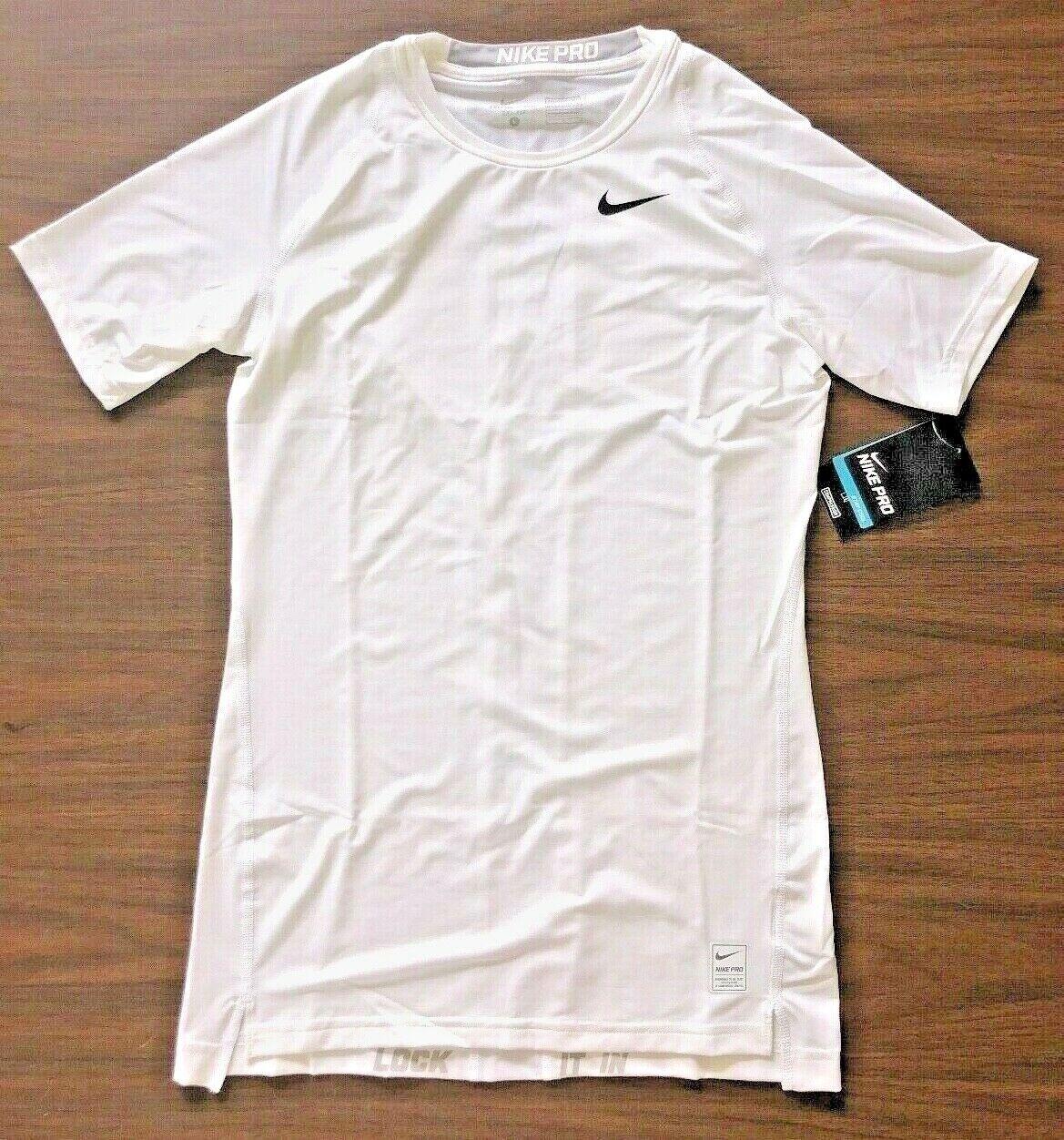 NIKE Men's Dri-FIT COMPRESSION Training Tee Shirt White NEW