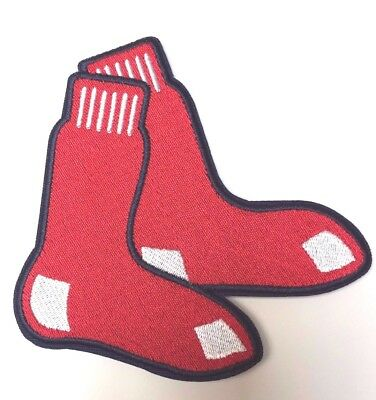 Boston Red Sox Hanging Sox Jersey sleeve Patch Iron on - Boston Red