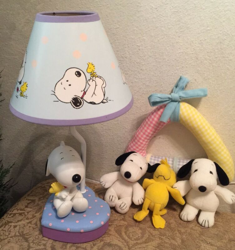 Peanuts Snoopy & Woodstock Lamp with Shade & Mobile