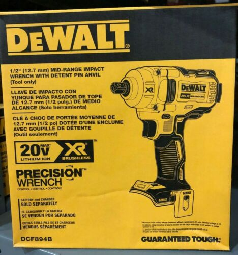 DeWALT DCF894B 20V MAX* XR® 1/2 IN. MID-RANGE CORDLESS IMPACT WRENCH (TOOL ONLY)