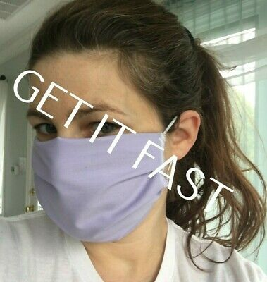 COTTON face mask with filter pocket Hand Made double layered pleated style