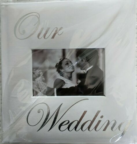 Ivory Photo Album for Wedding - Holds up to 160 4X6 Photos
