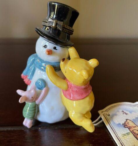 Classic Pooh Pooh Snowflake Midwest Cannon Falls 1999 Disney hinge trinket box