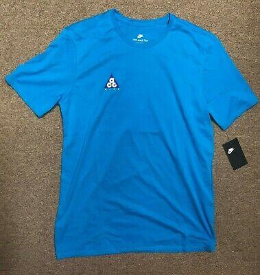 Nike ACG Go Climb a Volcano Shirt Blue AO8762 430 Men's Sz M