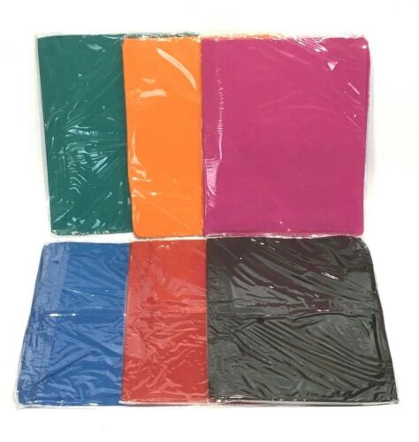 6 PACK STRETCHABLE BOOK COVERS PREMIUM SUPER STRETCH JUMBO SIZE ASSORTED COLORS