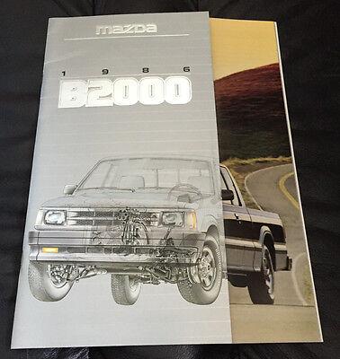 1986 Mazda B2000 Truck Original Dealer Car Sales Brochure Catalog