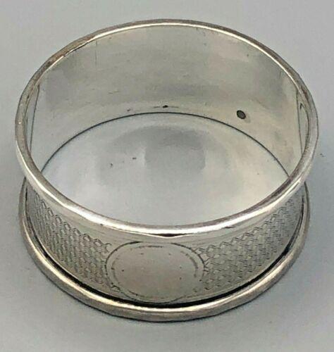 "Vintage Sterling Silver Napkin Ring .75"" wide, English Hallmarks"