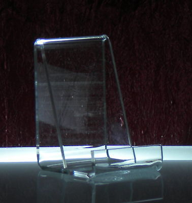 6 Open-ended Acrylic Vertical Business Card Holder Stand Displays