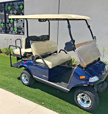 2017 Blue Lsv Evolution Ev Golf Cart Car Classic 4