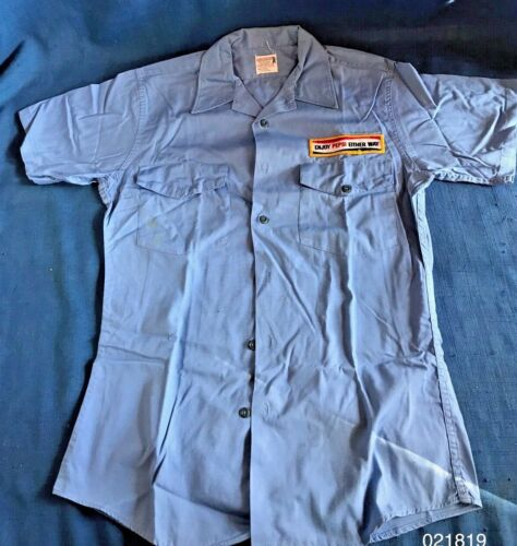 VINTAGE 1964 PEPSI COLA WORK UNIFORM HARCO Delivery Driver Shirt  New Diet Patch