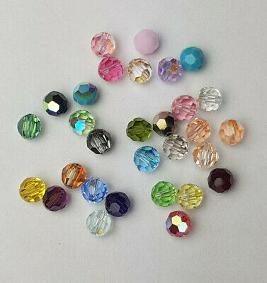 12 x SWAROVSKI 5000 CRYSTAL AB 6mm Round Faceted BEAD
