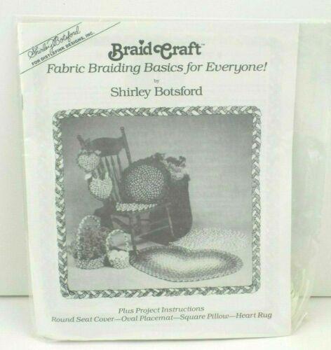 Fabric Rag Rug Braiding Tools Kit Shirley Botsford Braider Craft Instructions