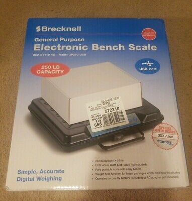 Brecknell Electronic Bench Scale 250lb Gp250-usb