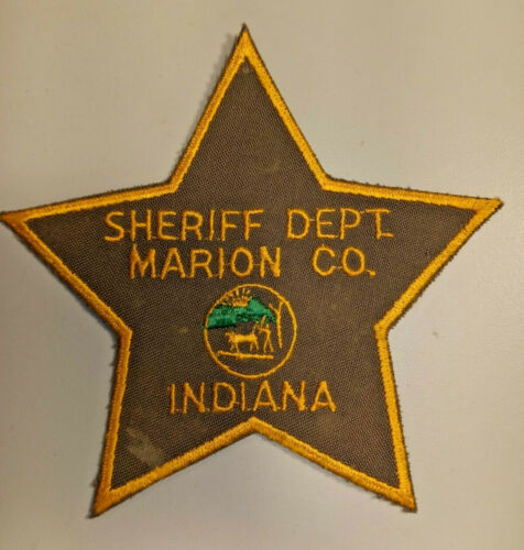 Vintage Marion County Indiana Police Shoulder Patch Embroidered