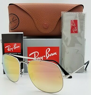 NEW Rayban General sunglasses RB3561 003/7O 57mm Silver Copper Pink Mirror (Pink Rayban)