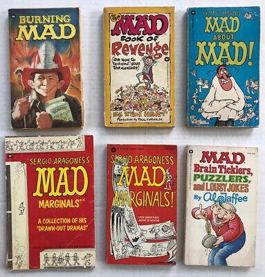 Mad Magazine Paperback Books Lot Of 6 Sergio Aragones 70's 80's
