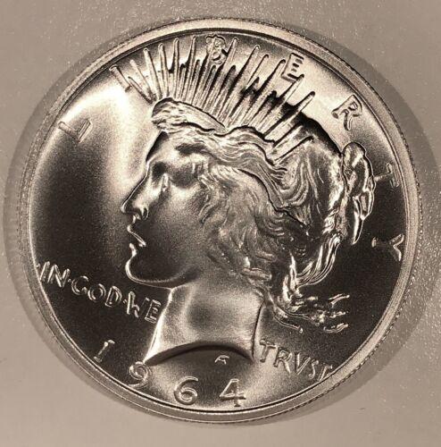 1964-D Peace Silver Dollar 2020 Overstrike, Dan Carr, High-Grade Ships Free /6