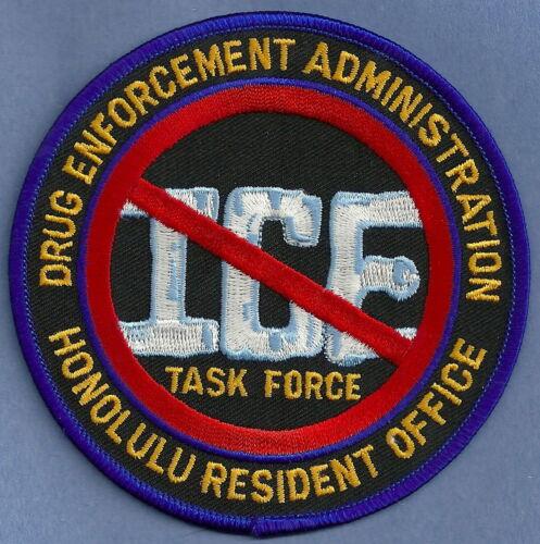 DEA DRUG ENFORCEMENT ADMINISTRATION HONOLULU RESIDENT OFFICE SHOULDER PATCH