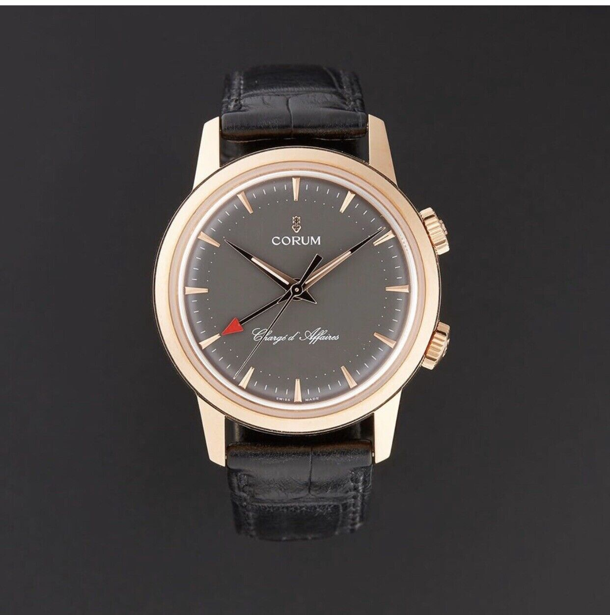 CORUM HERITAGE VINTAGE CHARGE D'AFFAIRE ONLY 50 PIECES IN 18k. ROSE GOLD. 100% - watch picture 1