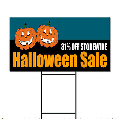 Halloween Sale 31% Off Storewide Custom Plastic Yard Sign /FREE - Halloween Cust
