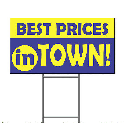Best Prices In Town Corrugated Plastic Yard Sign /FREE