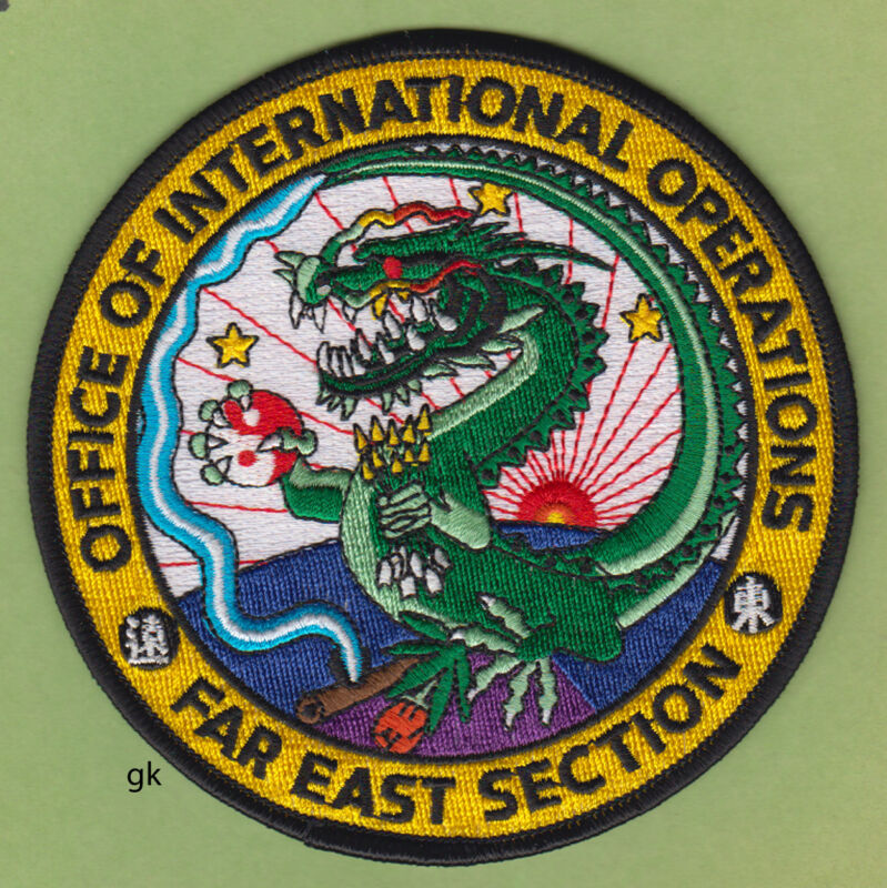 DEA DRUG ENFORCEMENT   FAR EAST ASIA  DRAGON POLICE SHOULDER PATCH