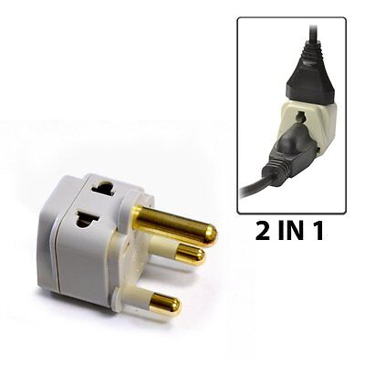 OREI 2 in 1 Travel Plug Adapter Type M for South Africa, Botswana, Swaziland