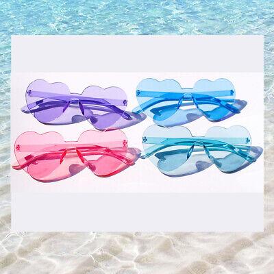 Sonnenbrille Damen Retro Herz Pin up Vintage Blau Blogger Trend Pink Festival  ()