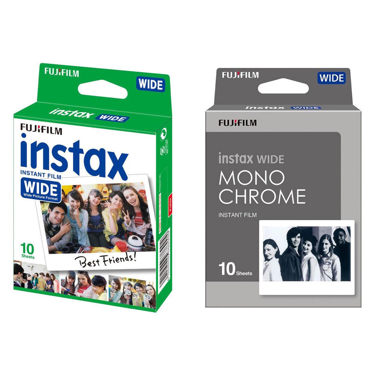 Plain & Monochrome FujiFilm Instax Wide Film Polaroid 20 Ins