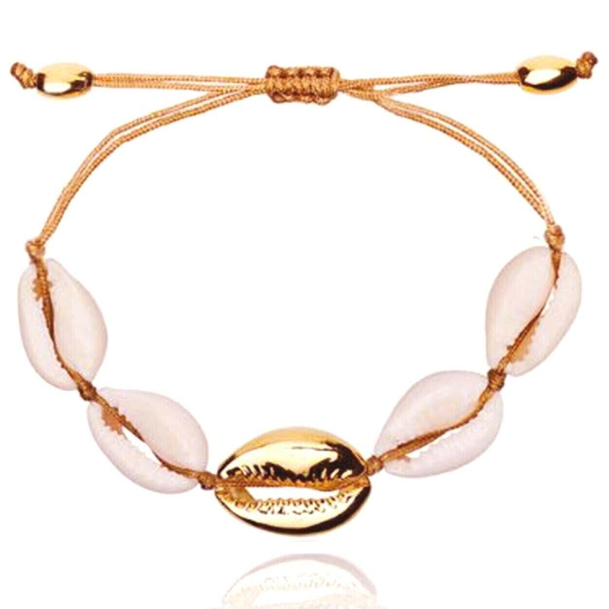 Muschel Armband Armreif Rosegold Shell Boho Blogger Sommer Silber Gold Festival