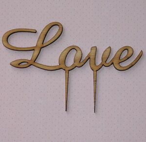 Rustic Wooden Love Cake topper, Romantic, Wedding, Engagement, Anniversary