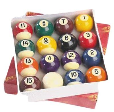 Pool and Billiard Solid and Stripes Billiard Table Match Playing 2 Inch Balls Set