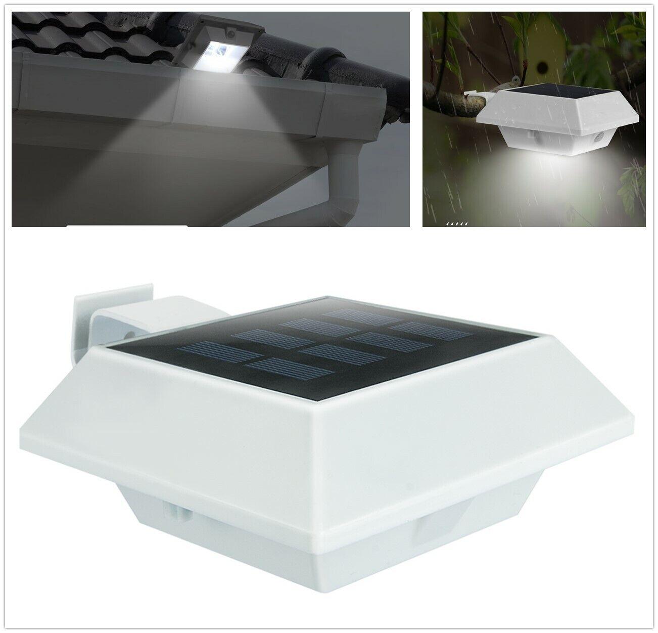 Solar Lampe Solarleuchte Wandlampe Wandleuchte 2 LED Garten Strahler Zaunlicht