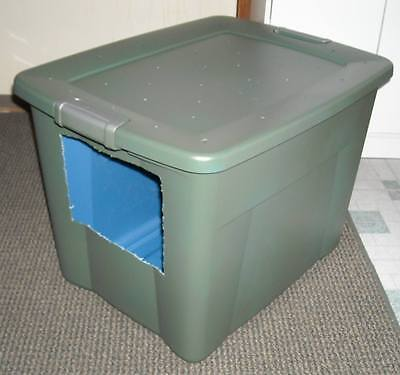 how to make your own jumbo size covered cat litter box ebay. Black Bedroom Furniture Sets. Home Design Ideas