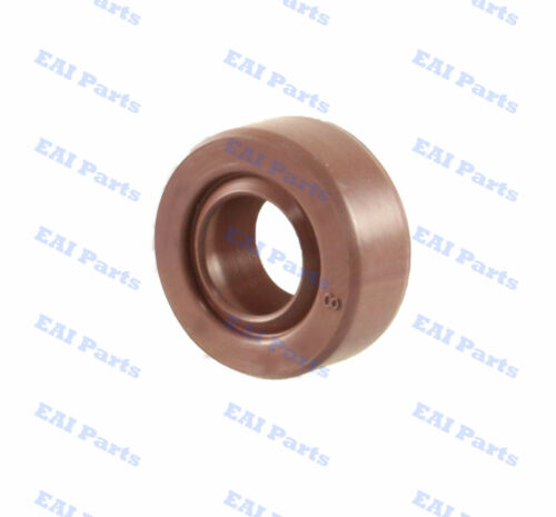 EAI Viton Oil Shaft Seal 8x18x7mm Grease Dbl Lip w/ Stainless Steel Spring