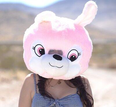 BUNNY Plush Helmet Mascot Head Costume Japan Animal Cosplay Halloween BRAND NEW - Brand Mascot Halloween Costumes