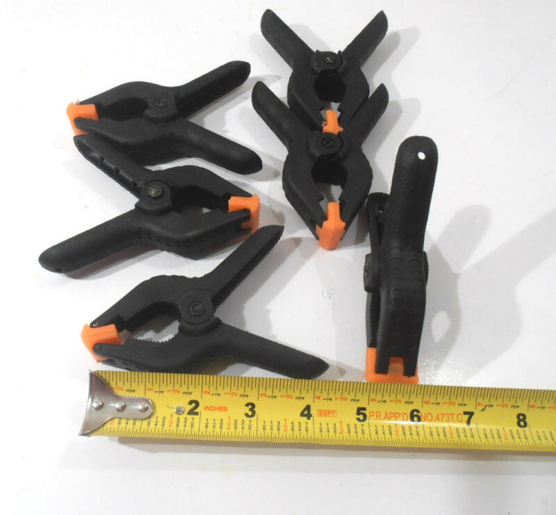 """SPRING CLAMPS  6 PC. 4"""" INCH PLASTIC SPRING CLAMP FOUR INCH"""