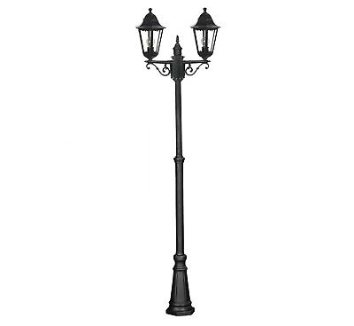 Victorian style double headed aluminium garden lamp post