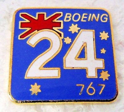 light blue 24 BOEING 767 w/Australian Flag enameled employee tack pin for sale  Shipping to Canada