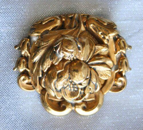 Fabulous Antique Edwardian Art Nouveau Gold-tone Dress Clip