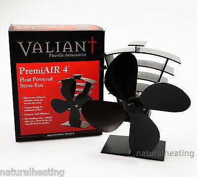 VALIANT PremiAir 4 Blade Heat Powered Stove Fan FIR361 - 420cfm LOW START TEMP!