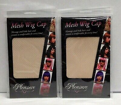 2 Pleasures Mesh Wig Cap Nude Costume Drag Breathable Manage & Hide Hair Unisex for sale  Shipping to Nigeria