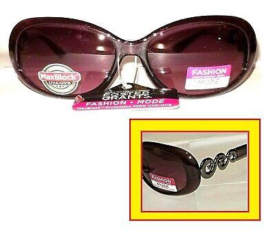 Special Sale Women's Purple Foster Grant Sunglasses w Designer Scroll (Womens Designer Sunglasses Sale)