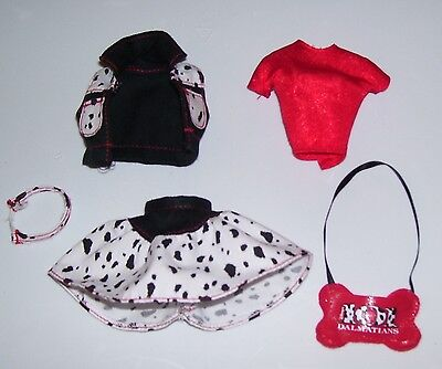 NEW FROM BOX BARBIE DOLL DALMATION DOG THEMED CLOTHES SET & PURSE